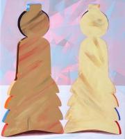 Indblik, 2012, 70 x 62 cm, acrylic and oil on canvas